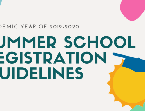 Summer School Registration Guidelines