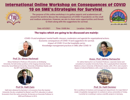 International Online Workshop in partnership with University of Sulaimani