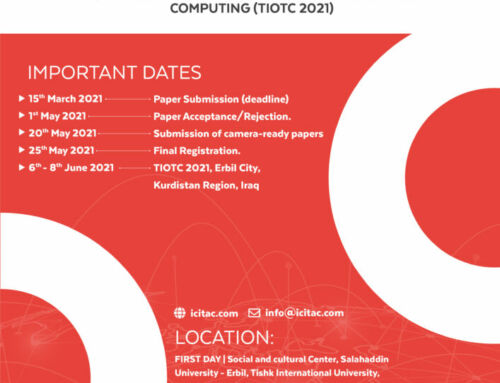 1st International Conference on Emerging Technology Trends in Internet of Things and Computing