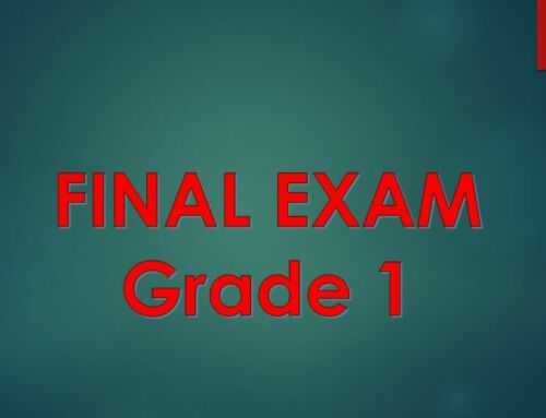 First Grade Final Examination